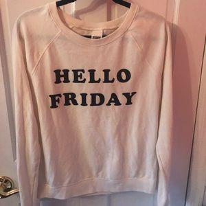 VS Pink Hello Friday sweatshirt. Size small